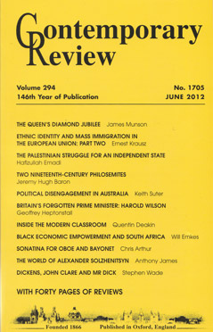 Contemporary Review, June 2012