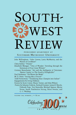 Southwest Review, Vol.100
