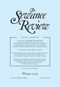 The Sewanee Review, Winter 2016